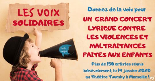 grand concert des 150 voix solidaires du CALMS à Marseille en faveur de l'association Parole d'enfant pour ses actions d'aide aux enfants victimes de violences