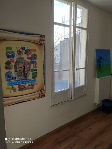 nouvel espace d'accueil du pulic bénévoles association Parole d'enfant Marseille